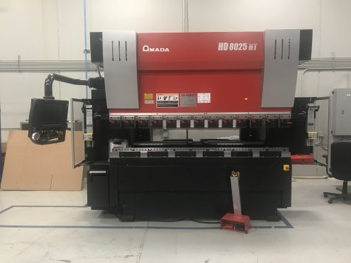 88 TON X 8' AMADA HD-8025NT PRESS BRAKE W/7-AXIS AMADA AMNC NT